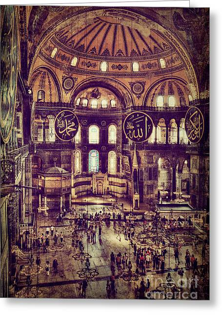 Istanbul Greeting Cards - In the Glow Greeting Card by Emily Enz