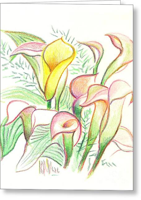 Soft Drawings Greeting Cards - In the Golden Afternoon Greeting Card by Kip DeVore