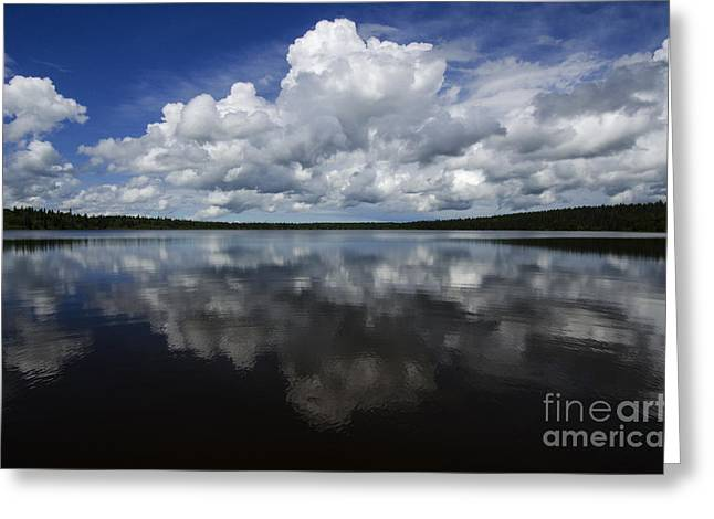 Reflections Of Sky In Water Greeting Cards - In The Good Old Summertime  Greeting Card by Bob Christopher