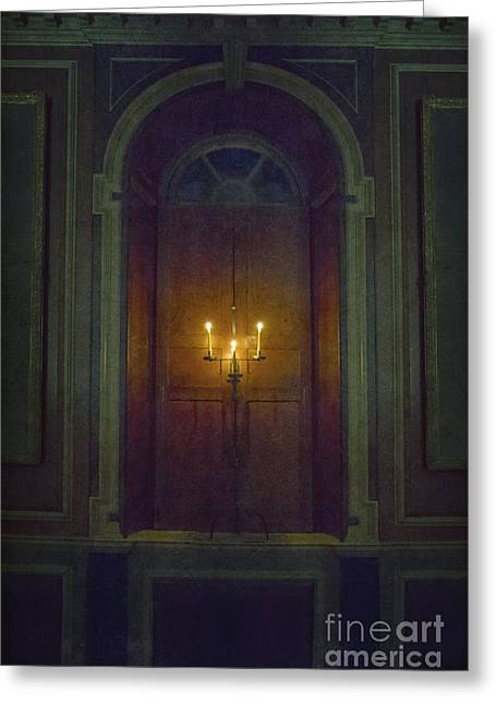 Recently Sold -  - Candle Stand Greeting Cards - In The Great Hall Greeting Card by Margie Hurwich