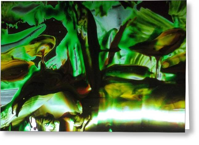 Human Spirit Paintings Greeting Cards - In The Green Greeting Card by Karen Butscha