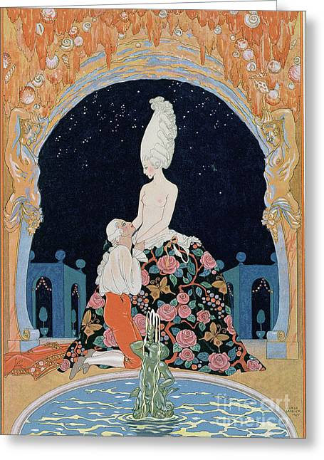 Forgiven Greeting Cards - In the Grotto Greeting Card by Georges Barbier