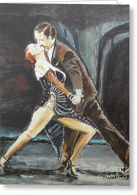 Tango Greeting Cards - In the Heat of the Night Greeting Card by Judy Kay