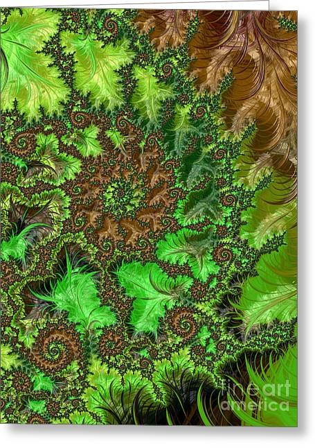 Kaleidoscope Effect Greeting Cards - In The Jungle  Greeting Card by Heidi Smith