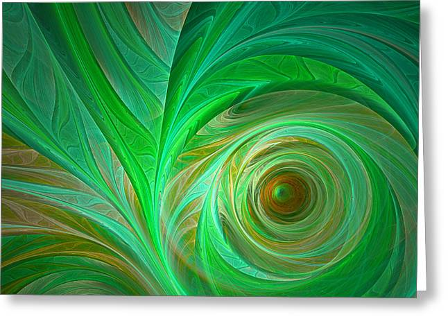Abstract Rain Digital Greeting Cards - In the Jungle Greeting Card by Martin Capek