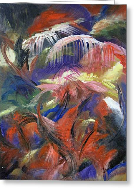 Etc. Paintings Greeting Cards - In the Jungle Greeting Card by Roberta Rotunda