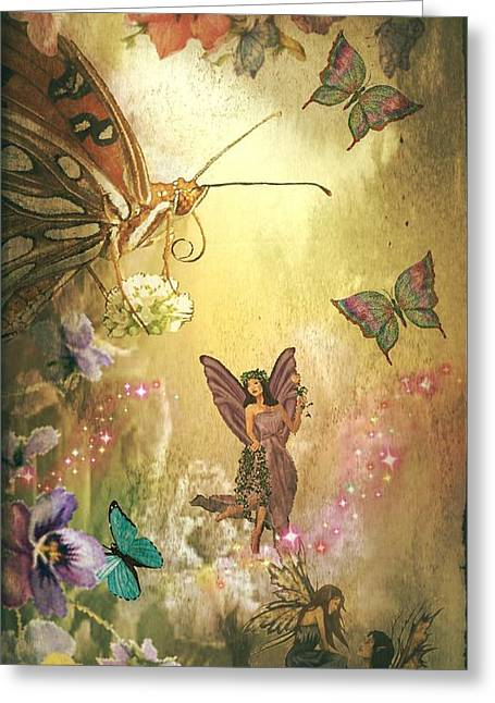 Maria Urso Digital Art Greeting Cards - In the Land of Fairies Greeting Card by Maria Urso