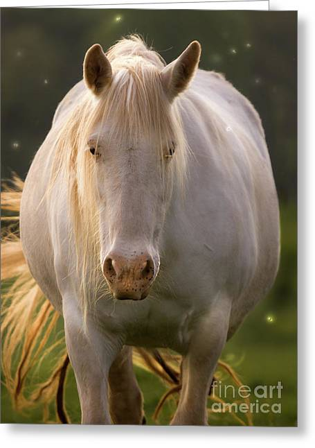 Luminescence Greeting Cards - In The Land Of  Unicorns Greeting Card by Angel  Tarantella