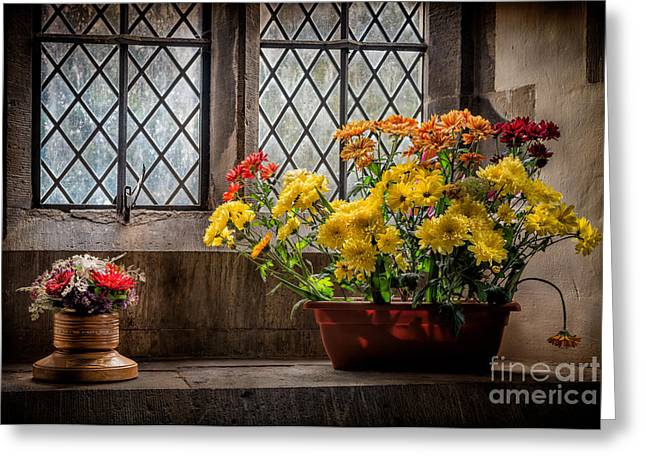 Hymns Greeting Cards - In The Light Greeting Card by Adrian Evans