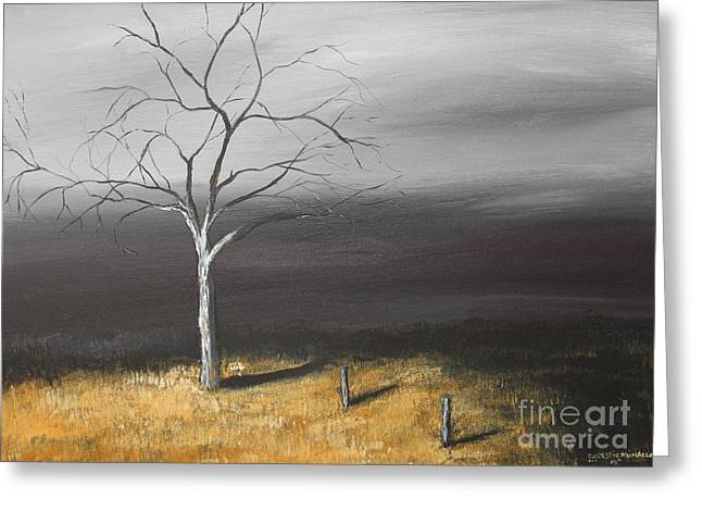 Contemporary Night Scape Greeting Cards - In the Light Greeting Card by Christie Minalga