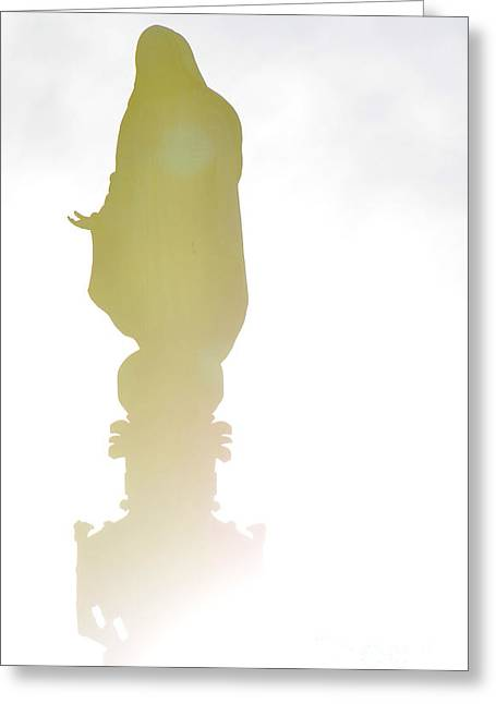 Confirmation Greeting Cards - In the light - Hail Mary 2 Greeting Card by Anahi DeCanio