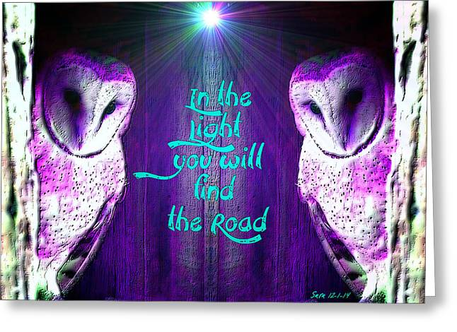 Robert Plant Digital Art Greeting Cards - In the Light Greeting Card by Sara Pixel Pixie