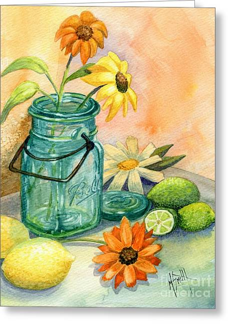In The Lime Light Greeting Card by Marilyn Smith