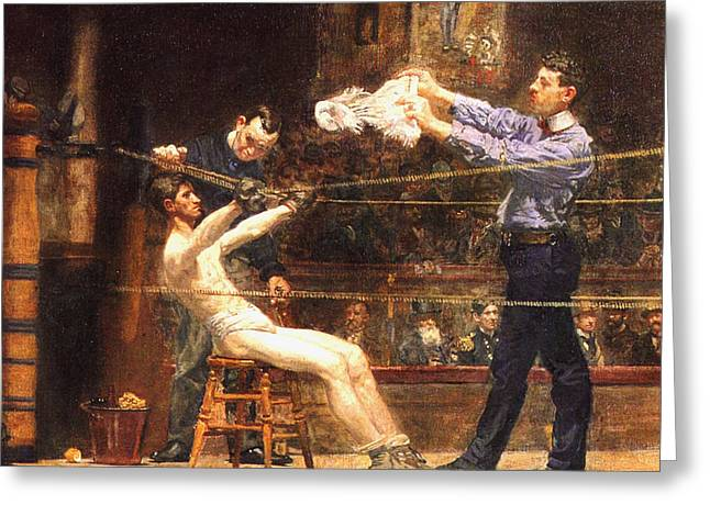 In The Corner Greeting Cards - In The Mid Time detail Greeting Card by Thomas Eakins