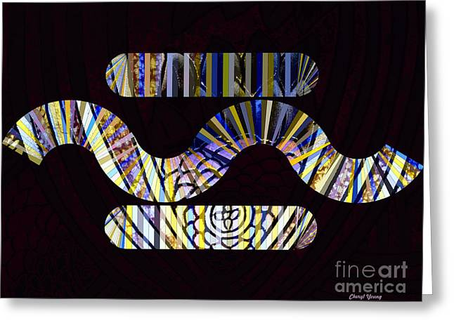 Abstract Digital Photographs Greeting Cards - In the Middle Greeting Card by Cheryl Young