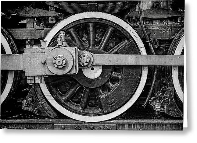 Locomotive Wheels Greeting Cards - In the Middle Greeting Card by Ken Smith