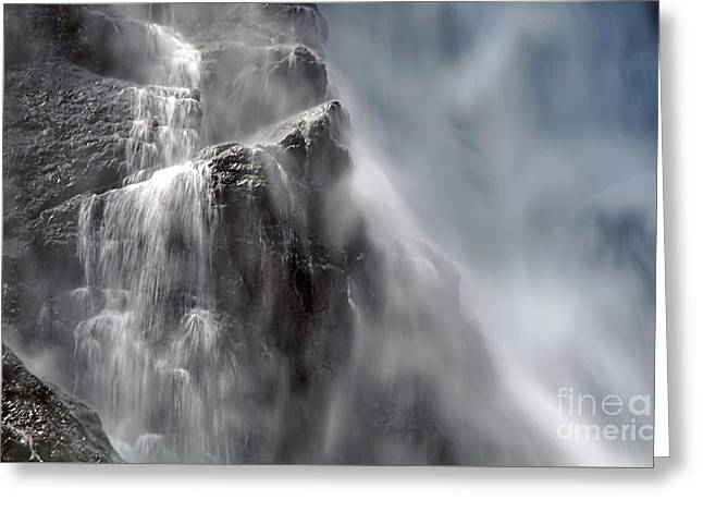 Kaye Menner Landscape Greeting Cards - In the Mist of the Falls Greeting Card by Kaye Menner