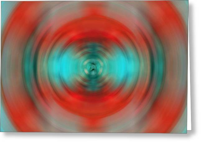 Soft Light Paintings Greeting Cards - In The Moment - Energy Art by Sharon Cummings Greeting Card by Sharon Cummings