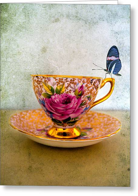 Gilt Cup Greeting Cards - Rosie lee Greeting Card by Gillian Singleton