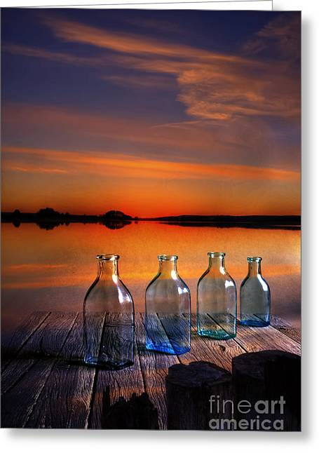 Multicolored Digital Greeting Cards - In the morning at 4.33 Greeting Card by Veikko Suikkanen