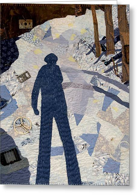 Shadows Tapestries - Textiles Greeting Cards - In the Morning I am so Tall Greeting Card by Martha Ressler