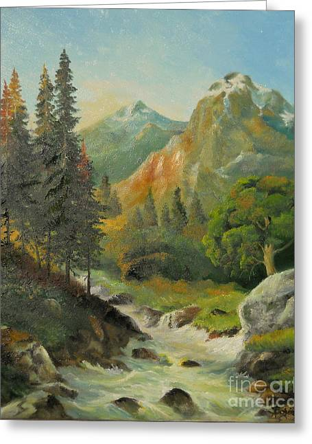 Landscape Posters Greeting Cards - In The Mountains  Greeting Card by Sorin Apostolescu