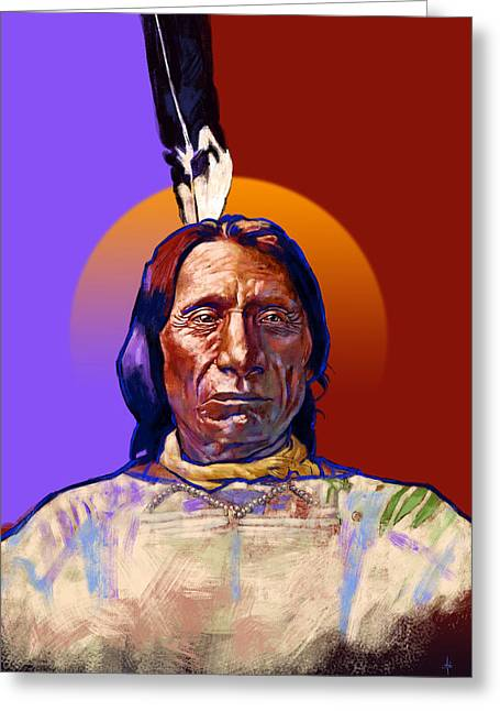 In The Name Of The Great Spirit Greeting Card by Arie Van der Wijst
