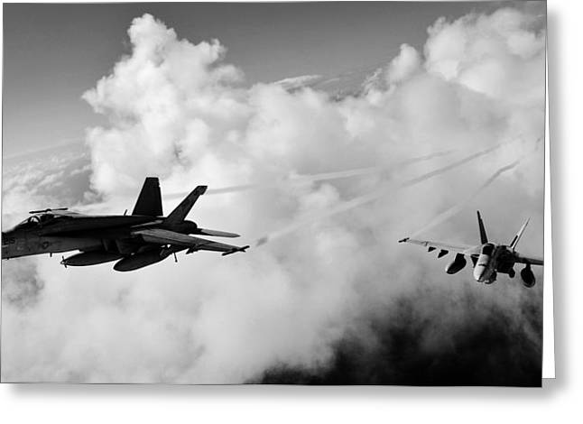 Military Planes Greeting Cards - In The Nest Greeting Card by Benjamin Yeager