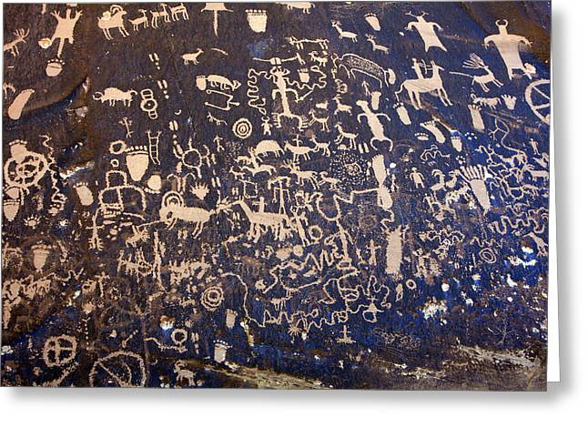 Newspaper Rock Sandstone Greeting Cards - In The News Today Greeting Card by Kenan Sipilovic
