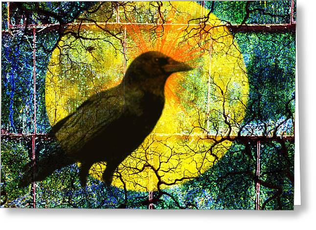 Creepy Digital Art Greeting Cards - In the Night Greeting Card by Nancy Merkle