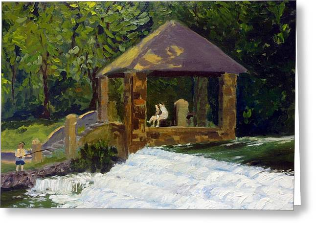 Park Scene Paintings Greeting Cards - In the Park Greeting Card by Rick Carbonell