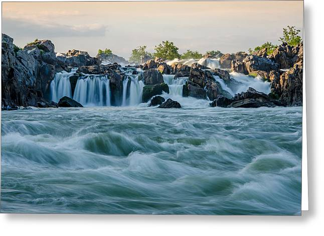 In The Rapids Greeting Card by Kristopher Schoenleber