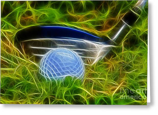 Playing Golf Greeting Cards - In the rough Greeting Card by Chris Thaxter