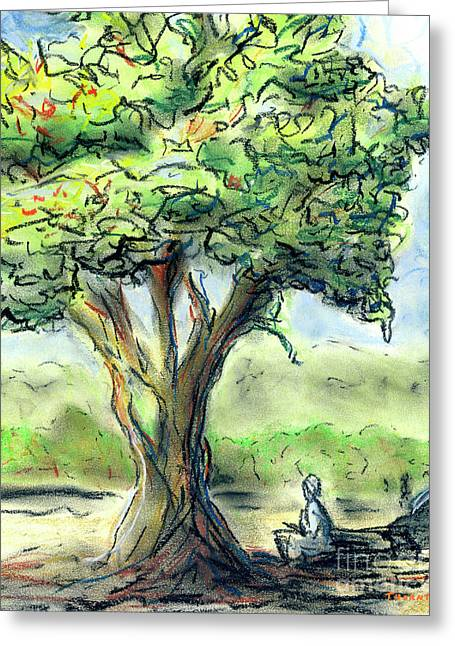 Shade Pastels Greeting Cards - In the Shade Greeting Card by Diane Thornton