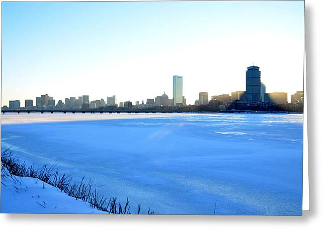 Boston Ma Greeting Cards - In the shadow of the Pru Greeting Card by Toby McGuire