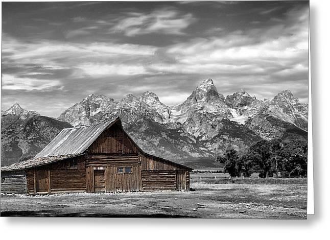 Mountains Sculptures Greeting Cards - In the Shadow of the Tetons Greeting Card by Nena Trapp