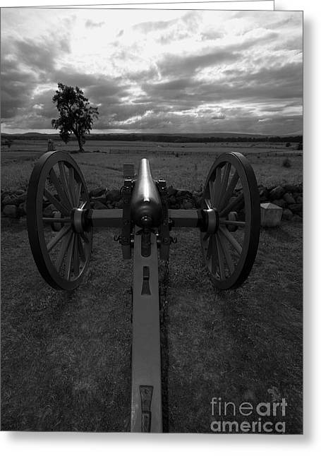 Civil War Site Photographs Greeting Cards - In the Sights at Gettysburg Greeting Card by James Brunker