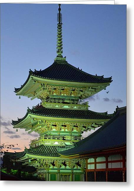 Kyoto Greeting Cards - In the Spotlight Greeting Card by Corinne Rhode