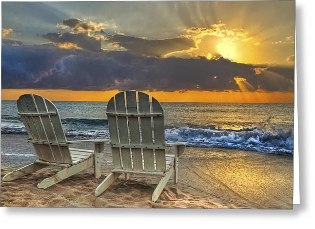 Sunrise Greeting Cards - In The Spotlight Greeting Card by Debra and Dave Vanderlaan