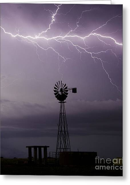Lightning Photographer Greeting Cards - In The Still Of Night Greeting Card by Ryan Smith