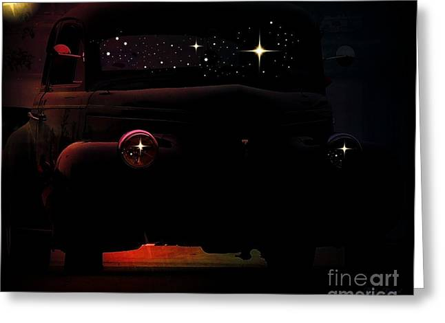 Matting Digital Greeting Cards - In the Still of the Night Greeting Card by Bobbee Rickard