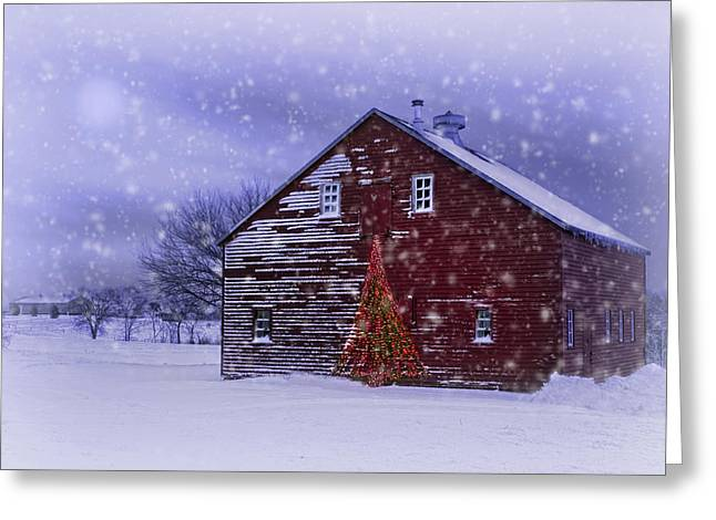 Dairy Barn Greeting Cards - In the Still of the Night Greeting Card by Nikolyn McDonald