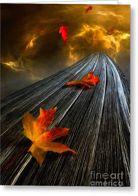 Autumn Digital Greeting Cards - In the Storm eye  Greeting Card by Veikko Suikkanen