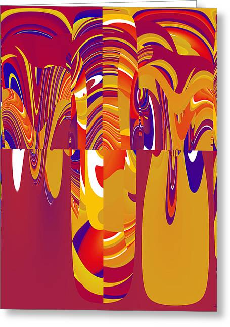 Abstract Style Greeting Cards - In The Theatre.. . . C Greeting Card by Sir Josef Putsche
