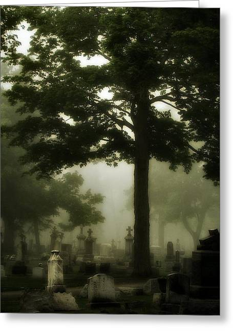 Thick Fog Greeting Cards - In The Thick Of It Greeting Card by Gothicolors Donna Snyder