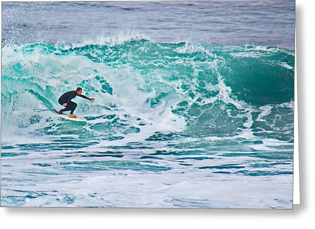 Surfin Greeting Cards - In The Tube at Horseshoe Greeting Card by Russ Harris