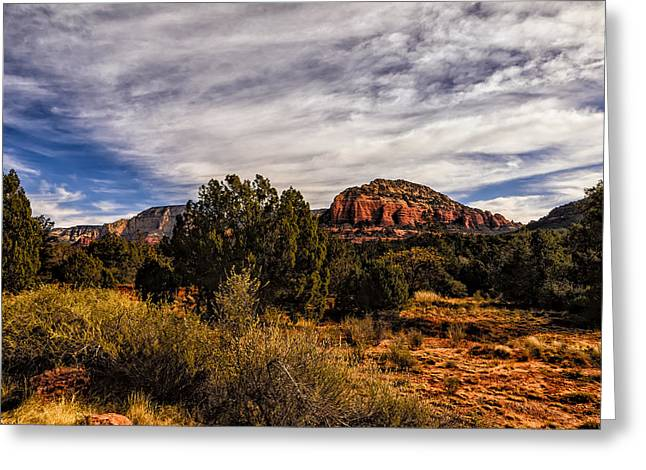 Beauty Mark Greeting Cards - In The Valley Below Greeting Card by Mark Myhaver