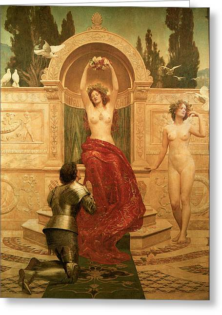 In The Venusburg Greeting Card by The Honourable John Collier