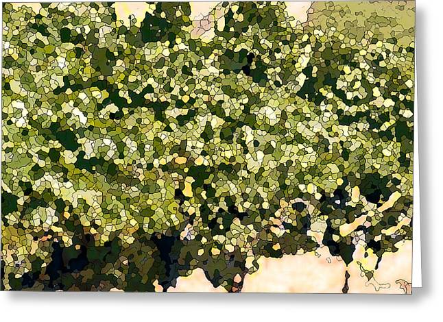 Ready For Harvest Greeting Cards - In the Vineyard Greeting Card by Artist and Photographer Laura Wrede
