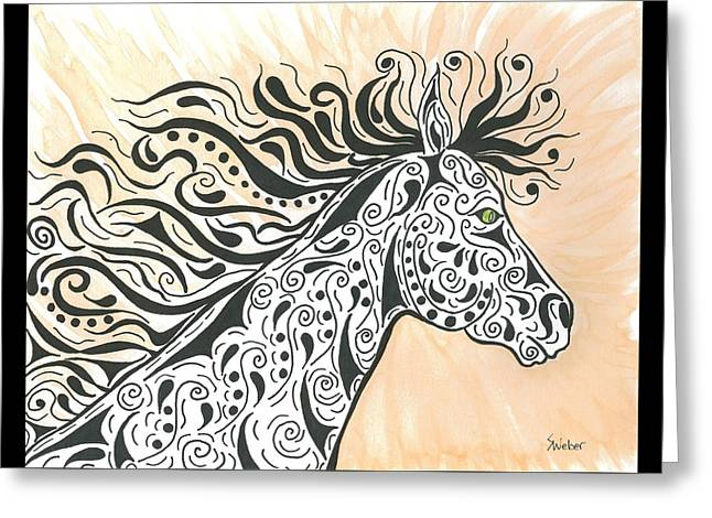 Susie Weber Greeting Cards - In The Wind Greeting Card by Susie WEBER